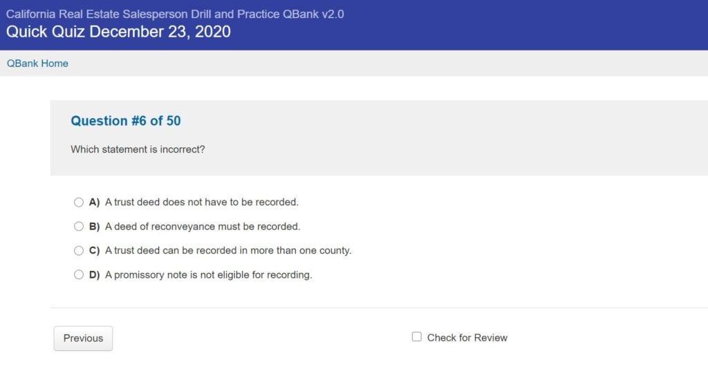 Kaplan Quick Quiz Screenshot 2