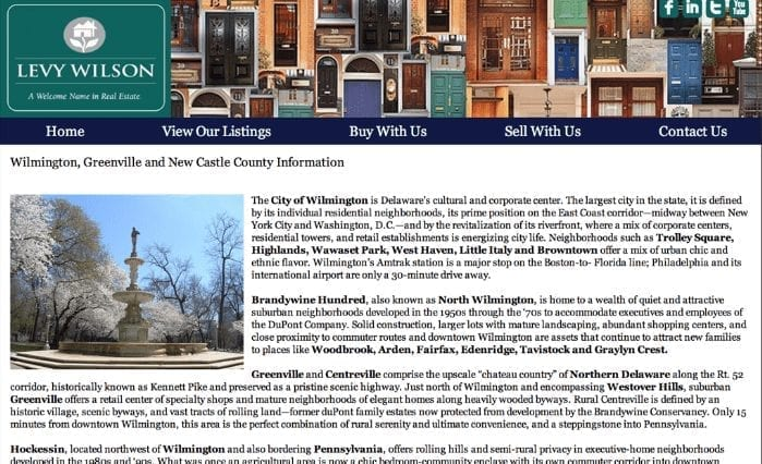 example of real estate website community page | AgentAdvice.com