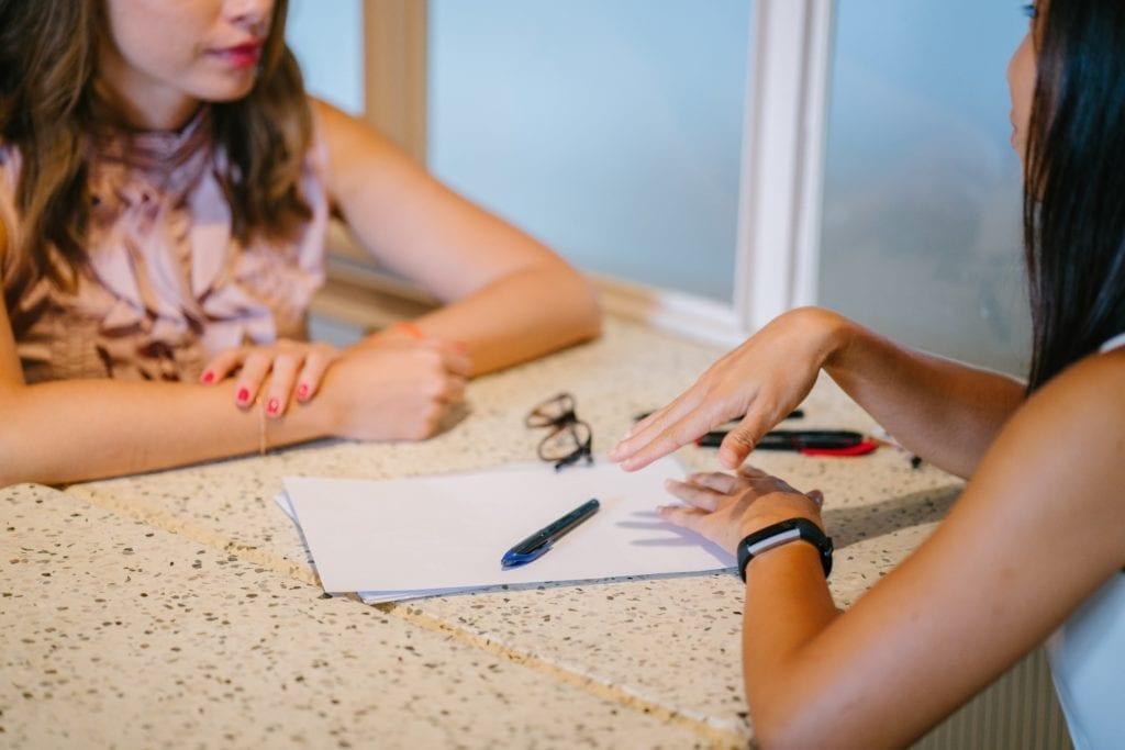 women studying for licensing exam