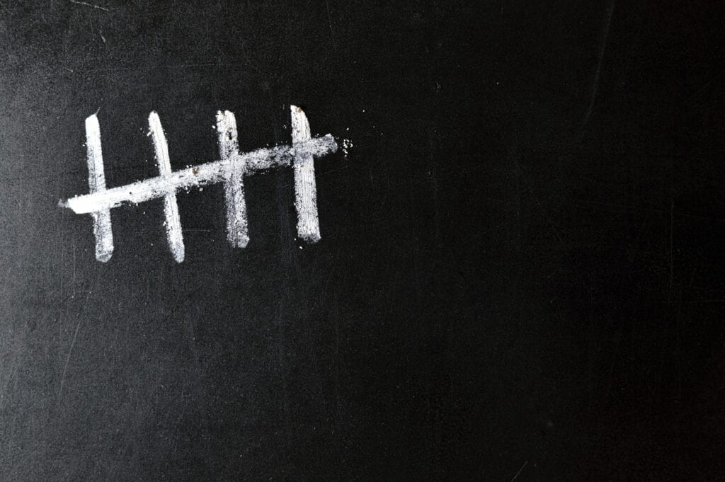 counting on a chalkboard